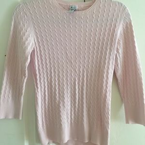 Gap express cable knit sweater pink med